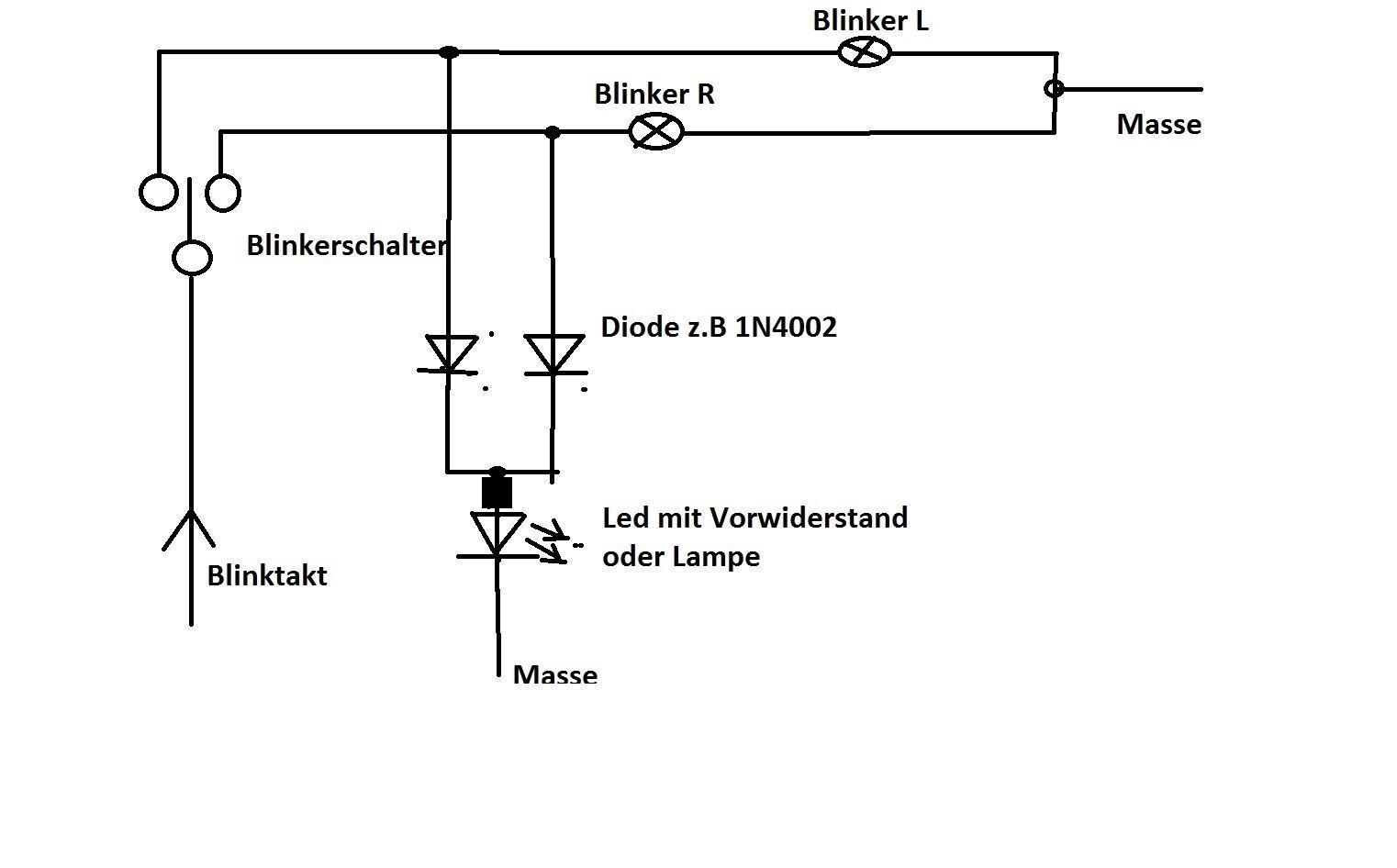 Schaltplan Blinkerschaltung